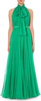 Alexander McQueen Halterneck silk-chiffon gown