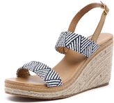 Walnut Melbourne Cindy Strap Wedge Navy
