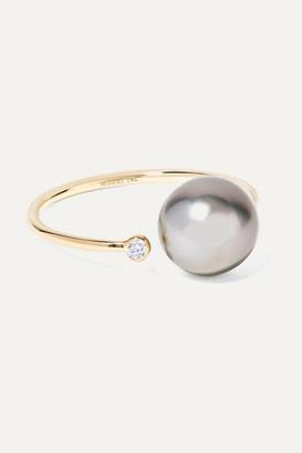 Mizuki 14-karat Gold, Pearl And Diamond Ring