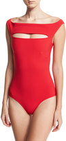 Chiara Boni Europa Off-the-Shoulder One-Piece Swimsuit