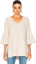 Derek Lam 10 Crosby V Neck Bell Sleeve Sweater