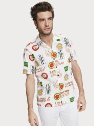 Scotch & Soda Printed Cotton Shirt Hawaii fit | Men