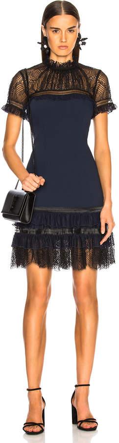 Jonathan Simkhai Mockneck Mini Dress in Midnight & Black   FWRD