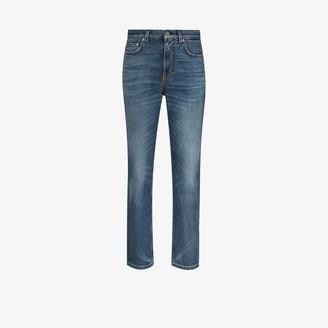 Self Cinema High Waist Straight Leg Jeans