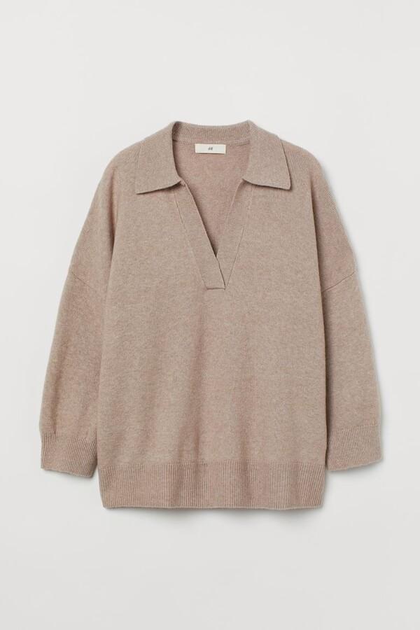 Collar-detail jumper