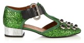 Toga Mirrored-heel glitter shoes