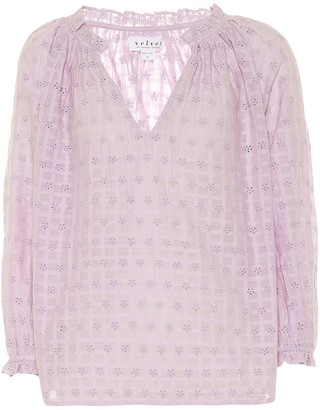 Velvet Matilda cotton eyelet blouse