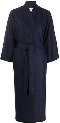 Harris Wharf London Belted Waist Side Slit Coat