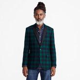 J.Crew Ludlow Slim-fit jacket in dark green tartan wool