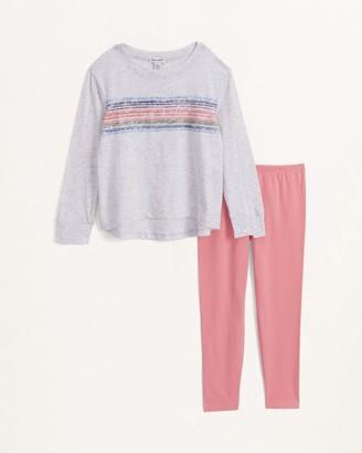 Splendid Little Girl Long Sleeve Stripe Top Set