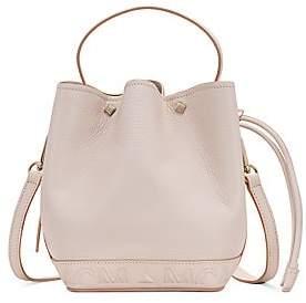 MCM Women's Mini Milano Leather Drawstring Bucket Bag