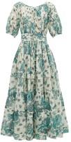Evi Grintela Rosemary Floral-print Cotton Maxi Dress - Womens - Cream Print