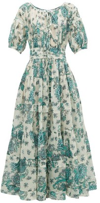 Evi Grintela Rosemary Floral-print Cotton Maxi Dress - Cream Print