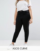 Asos Ridley Skinny Jean In Clean Black