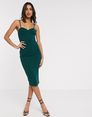 Asos DESIGN tie waist cami midi dress
