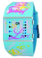 01 The One 01TheOne Women's SLSL136B3 Slim Square Classic LED Watch