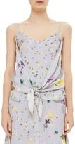 Topshop Floral Drape Tie Camisole