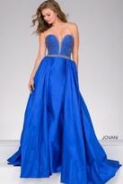 Jovani Overlay Taffeta Prom Dress 47321