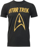 Junk Food Clothing Star Trek Logo Men's T-Shirt (L)