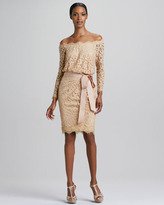 Tadashi Shoji Off-the-Shoulder Lace Cocktail Dress