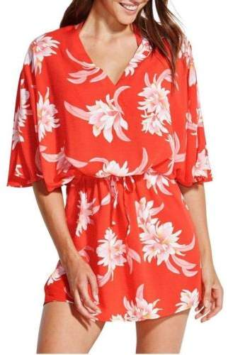 Seafolly NEW Kaftan Red