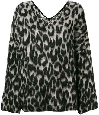 Stella McCartney textured leopard print sweater