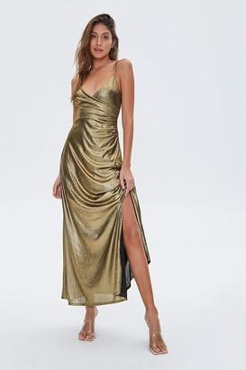 Forever 21 Metallic Cami Maxi Dress