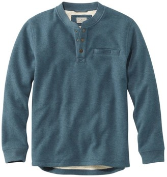 L.L. Bean L.L.Bean Men's Katahdin Iron Works Bonded Waffle Fleece Henley
