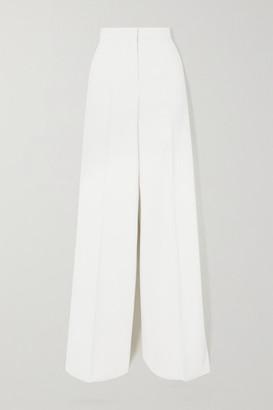 Max Mara Stretch-wool Wide-leg Pants - White