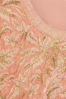 Dolce & Gabbana Chiffon-trimmed jacquard top