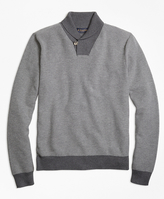 Brooks Brothers Supima® Cotton Cashmere Honeycomb Shawl Collar Sweater