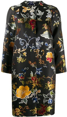 Etro Embroidered Floral Coat