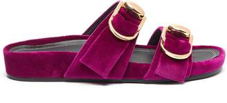 Stella Luna Turnlock buckle velvet slide sandals
