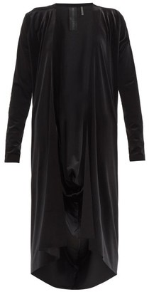 Norma Kamali Draped-back Velvet Cardigan - Black