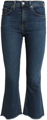 Rag & Bone Distressed Mid-rise Kick-flare Jeans