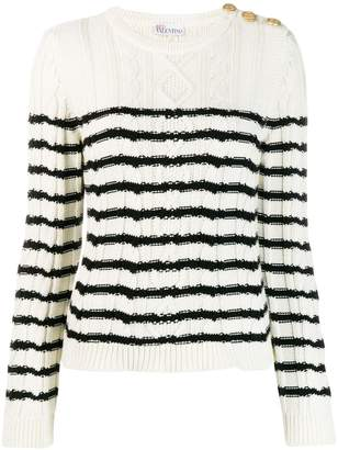 RED Valentino love cable-knit jumper