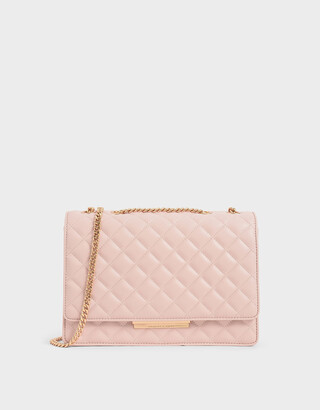 Charles & Keith Quilted Chain Strap Shoulder Bag