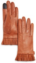 Rebecca Minkoff Mini Tassel Leather Tech Gloves