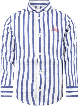 Fay Multicolor Shirt For Boy With Logo