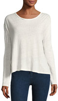Rag & Bone Rugby Relaxed Linen Long-Sleeve Tee, Blanc