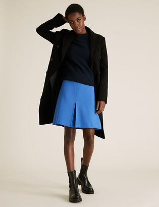 Marks and Spencer Pleat Front Mini A-Line Skirt