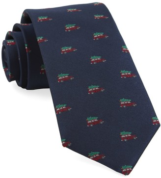 Tie Bar Christmas Vacation Navy Tie