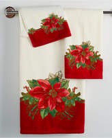 Lenox Holiday Poinsettia Tartan Bath Towel Collection