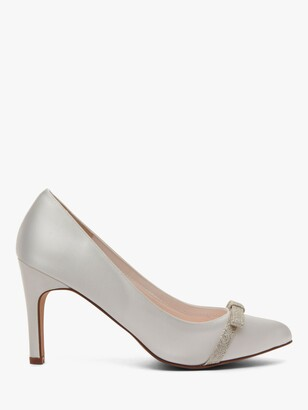Rainbow Club Caprice Bow Court Shoes, Ivory