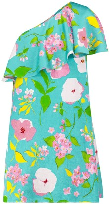 Saint Laurent Floral off-shoulder minidress