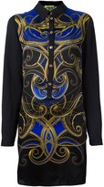 Versace printed shirt dress - women - Silk/Polyester/Acetate - 42