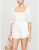Onia X Weworewhat x WeWoreWhat linen playsuit