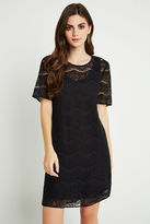 BCBGeneration Loose Fit Lace Dress - Black