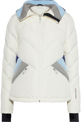 Perfect Moment Color-block Quilted Shell Down Jacket