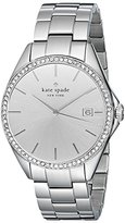 Kate Spade Women's 1YRU0101 Seaport Crystal-Accented Stainless Steel Watch